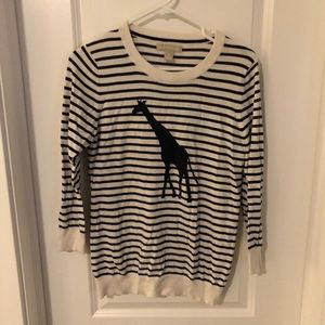 Banana Republic Navy & White Giraffe Sweater (M)